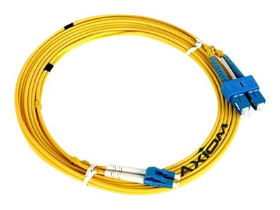 Axiom Fiber Patch Cable, LC-ST, 9 125, Singlemode, Duplex, 3m, LCSTSD9Y-3M-AX