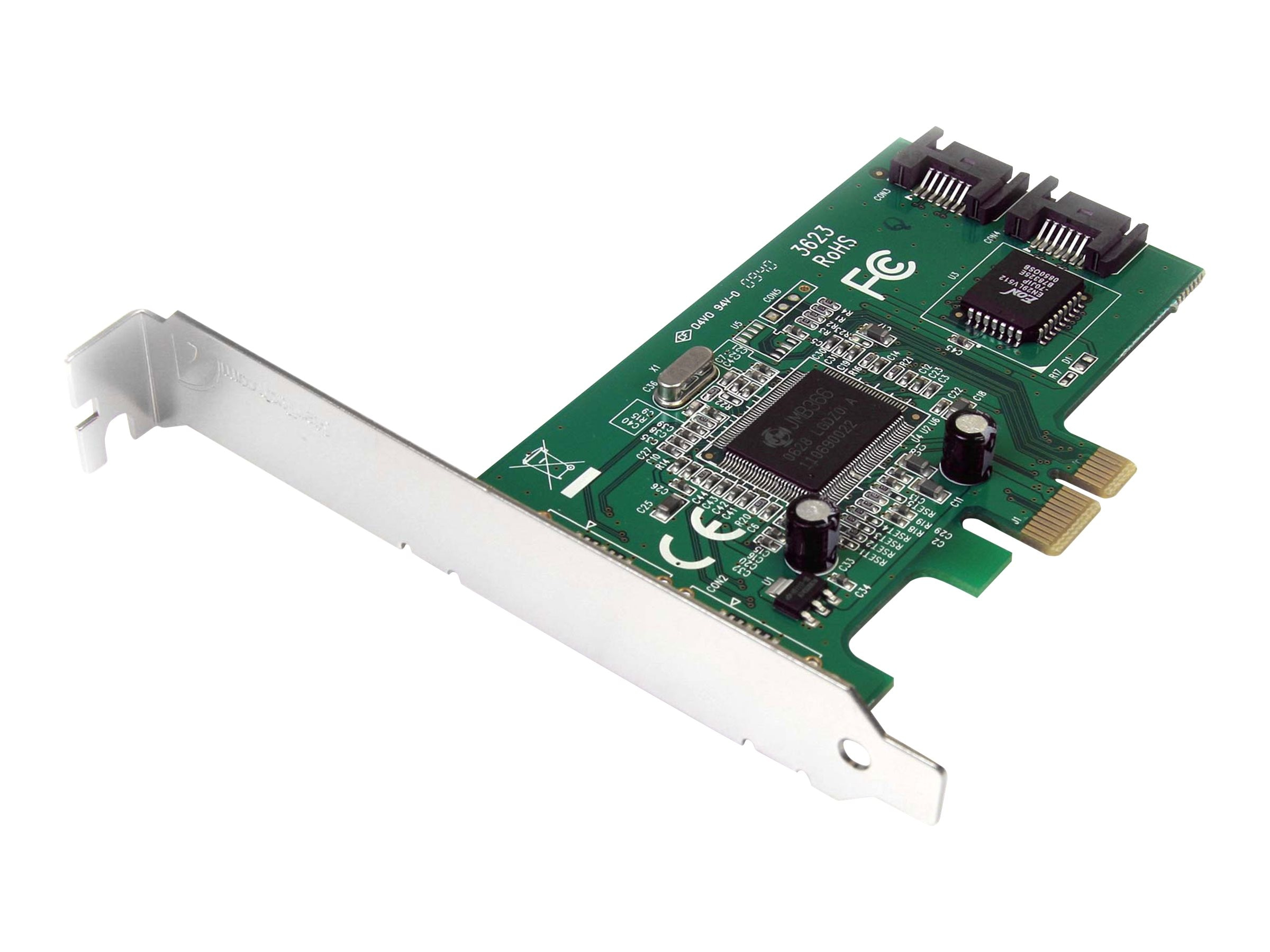 StarTech.com 2 Port PCI Express Internal SATA II Controller Card, PEXSATA22I