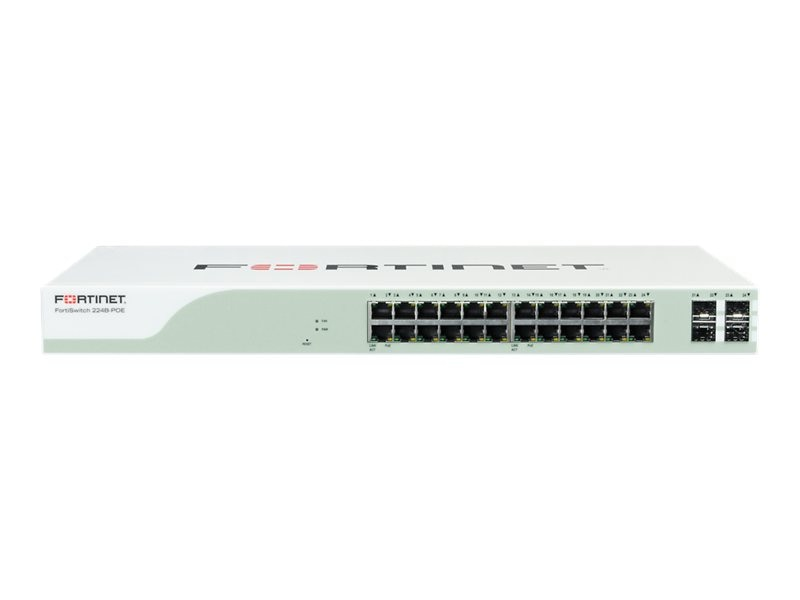 Fortinet Demo. FortiSwitch-224B-PoE 24-Port Not For Resale, FS-224B-POE-NFR, 27645600, Network Switches