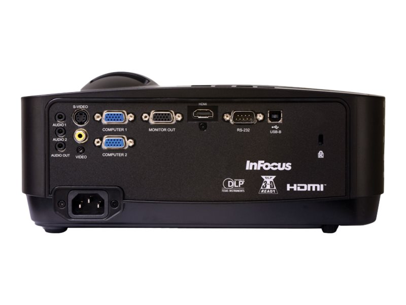 InFocus IN119HDx Full HD DLP Projector, 3200 Lumens, Black, IN119HDX