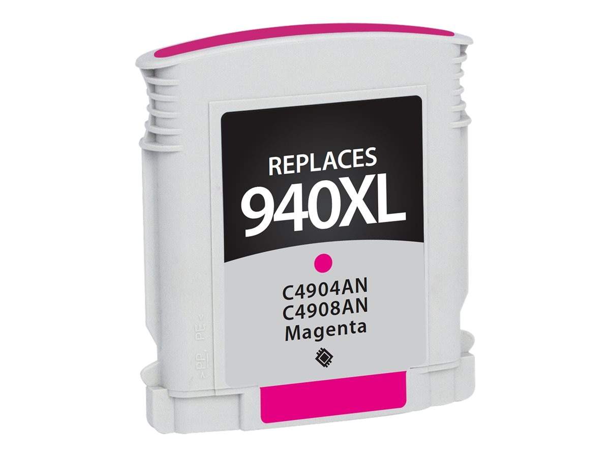 V7 C4908AN Magenta Ink Cartridge for HP Officejet, V7WC940XLM