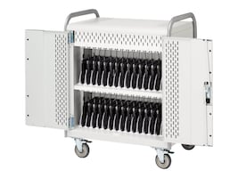 Bretford Manufacturing 30-Unit Laptop Storage Cart with Electric, 5in Casters, MDMLAP30-CTAL, 13502131, Computer Carts