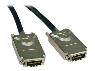 Tripp Lite 4xInfiniband (SFF-8470) to 4xInfiniband (SFF-8470) External SAS Cable, 2m, S522-02M, 18010119, Cables