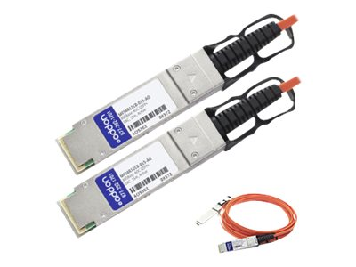 ACP-EP Mellanox Compatible 40GBase-AOC QSFP+ to QSFP+ Direct Attach Cable, 15m, MFS4R12CB-015-AO