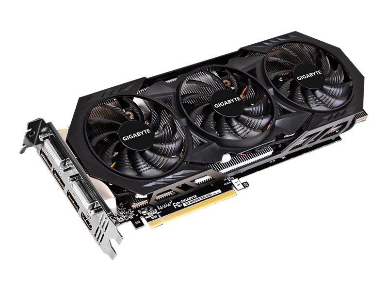 Gigabyte Tech GeForce GTX 970 PCIe Overclocked Graphics Card, 4GB GDDR5, GV-N970WF3OC-4GD, 17866265, Graphics/Video Accelerators