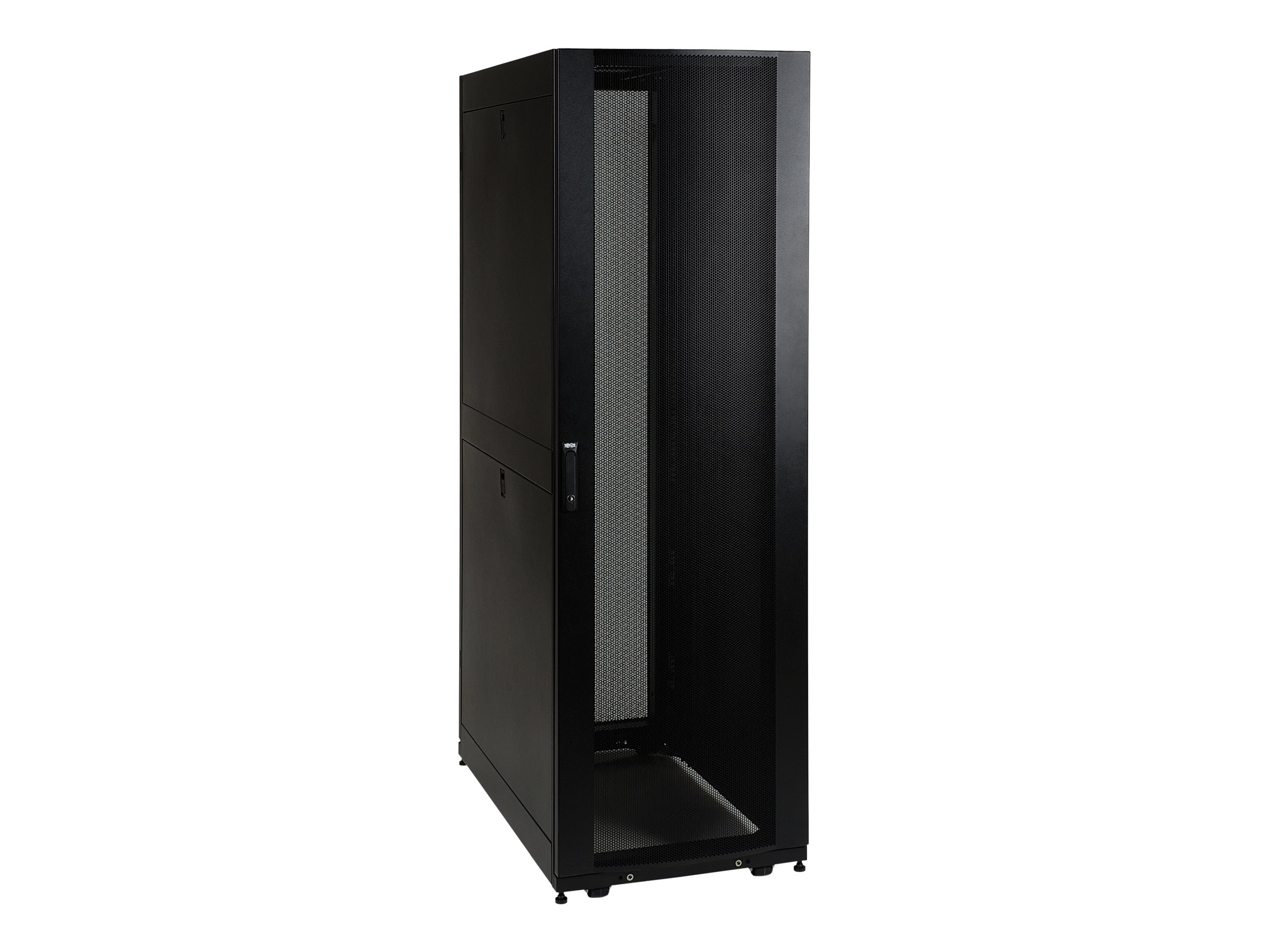 Tripp Lite SmartRack Premium Enclosure, Doors and Side Panels, 48U, Black, Instant Rebate - Save $125, SR48UB, 8845593, Racks & Cabinets