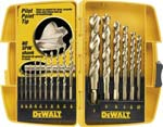Jensen Tools 16-Piece Pilot Point Drill Bit Set, 424-451, 8601599, Tools & Hardware