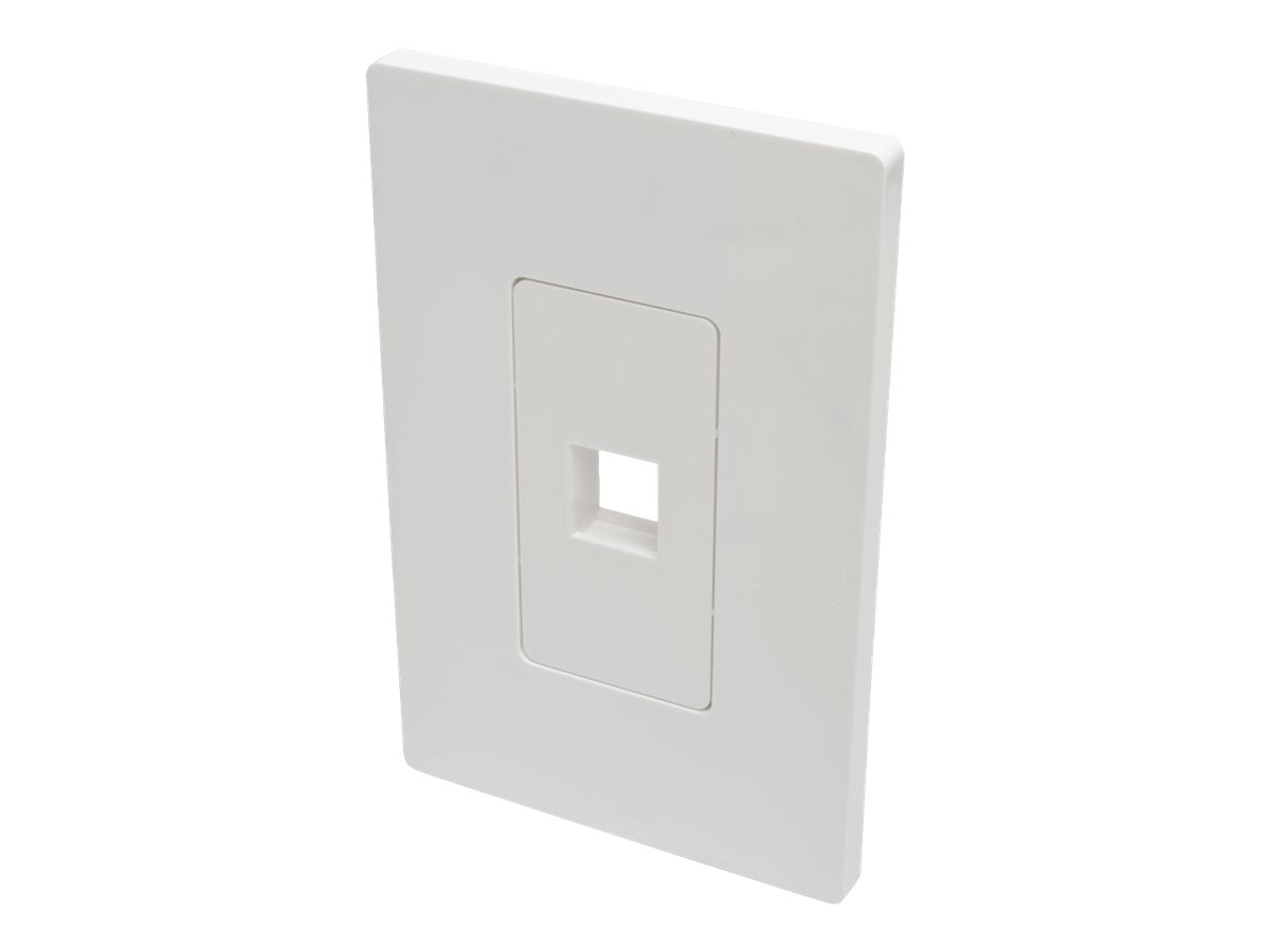 Tripp Lite Single-Gang Universal Keystone Wallplate, 1-Port, White