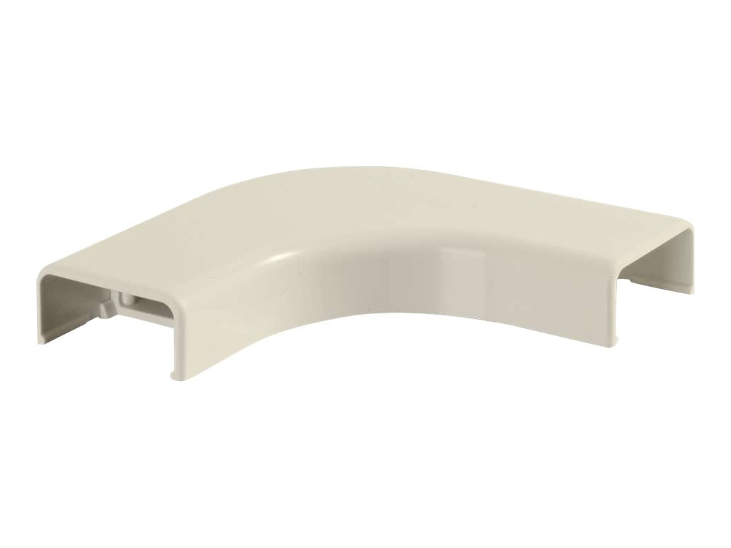 C2G Wiremold Uniduct 2800 Series Raceway Flat Elbow, Bend Radius Compliant, Ivory