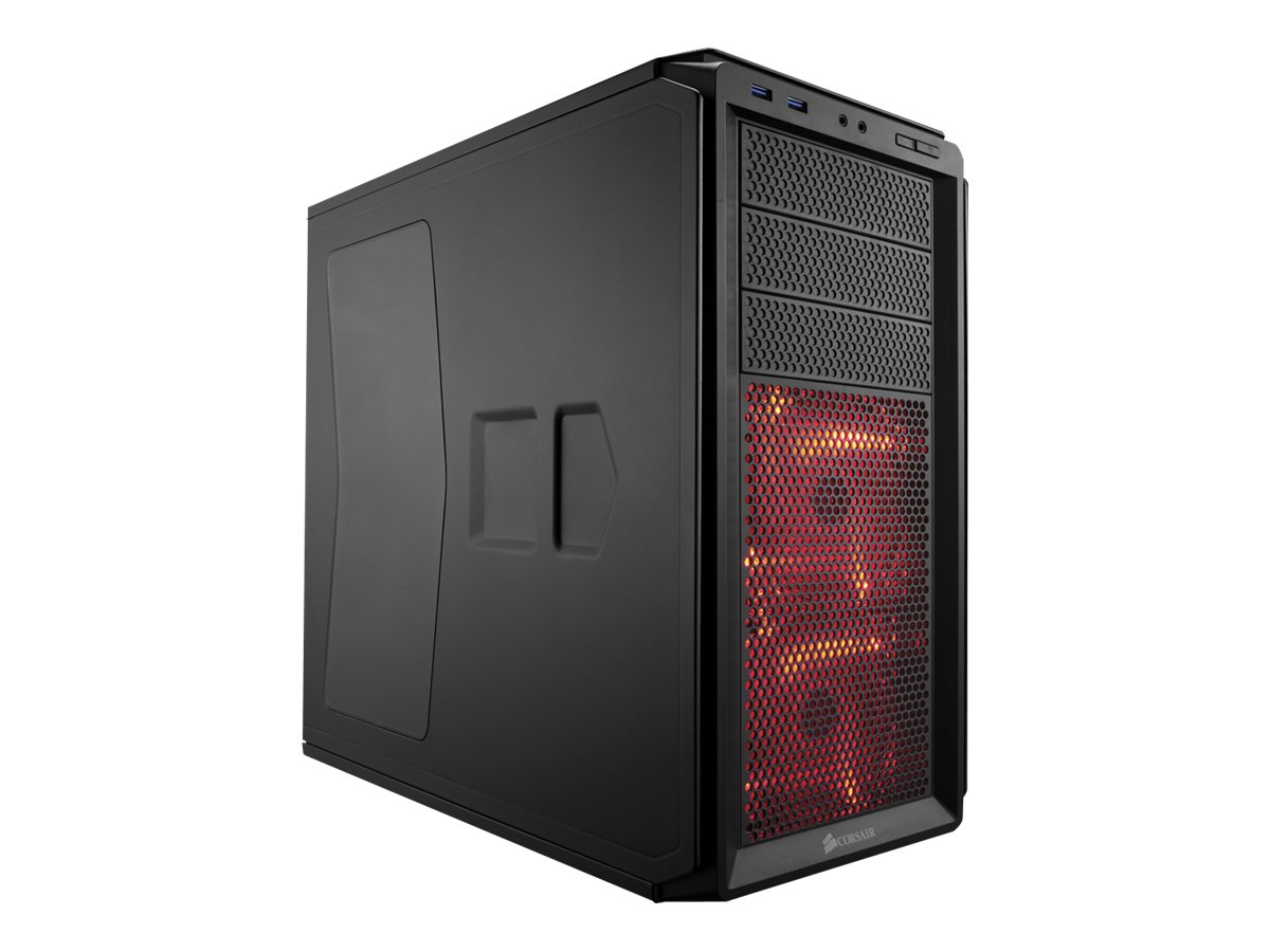 Corsair Chassis, Graphite Series 230T Windowed Compact Mid Tower 4x3.5 Bays 3x5.25 Bays 7xSlots, Black