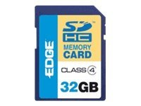 Edge 32GB SDHC Memory Card, Class 4, PE220617, 9283633, Memory - Flash