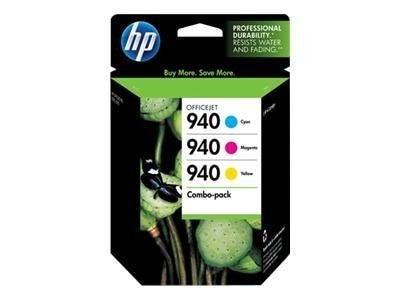 HP 940 (CN065FN) 3-pack Cyan Magenta Yellow Original Ink Cartridges