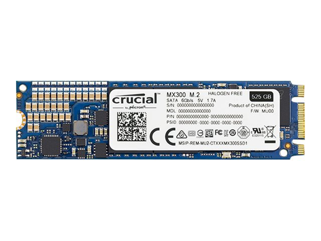 Crucial 275GB MX300 SATA M.2 Type 2280SS Internal Solid State Drive (256GB Class SSD)