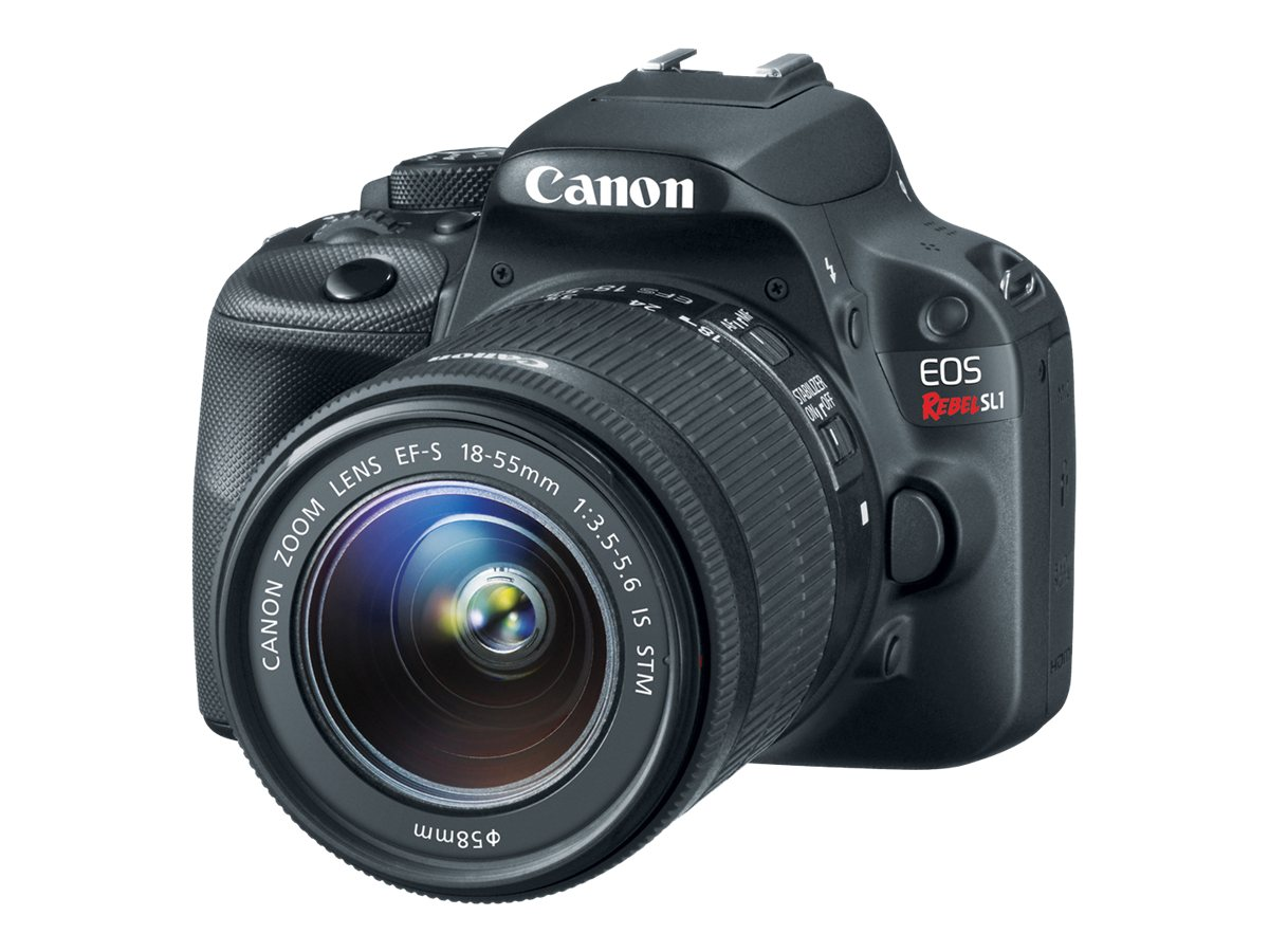 Canon EOS Rebel SL1 Digital SLR with EF-S 18-55mm IS STM Kit, 8575B003, 15528481, Cameras - Digital - SLR