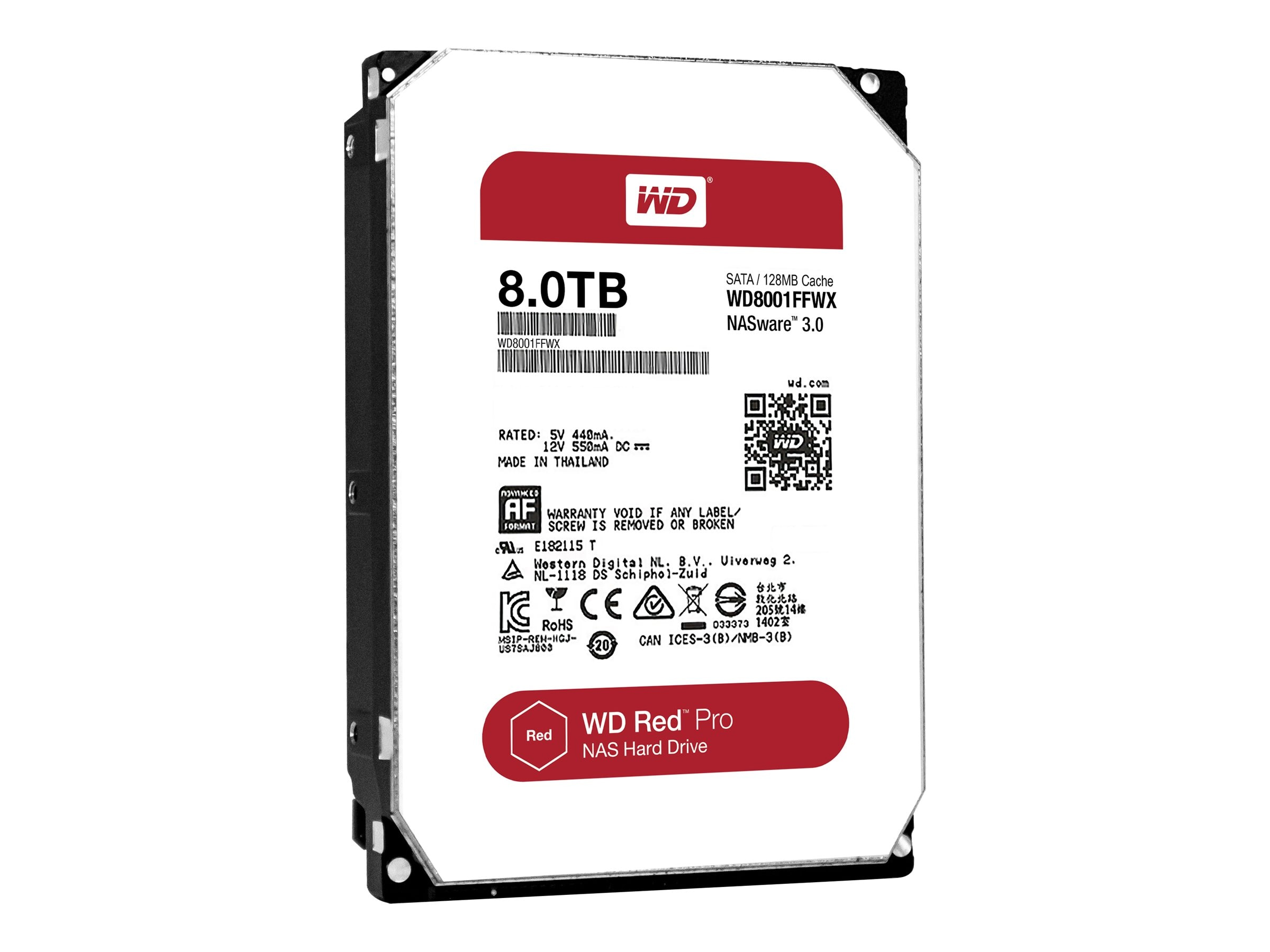 WD 8TB WD Red Pro SATA 6Gb s 3.5 Internal Hard Drives (20-pack), WD8001FFWX-20PK