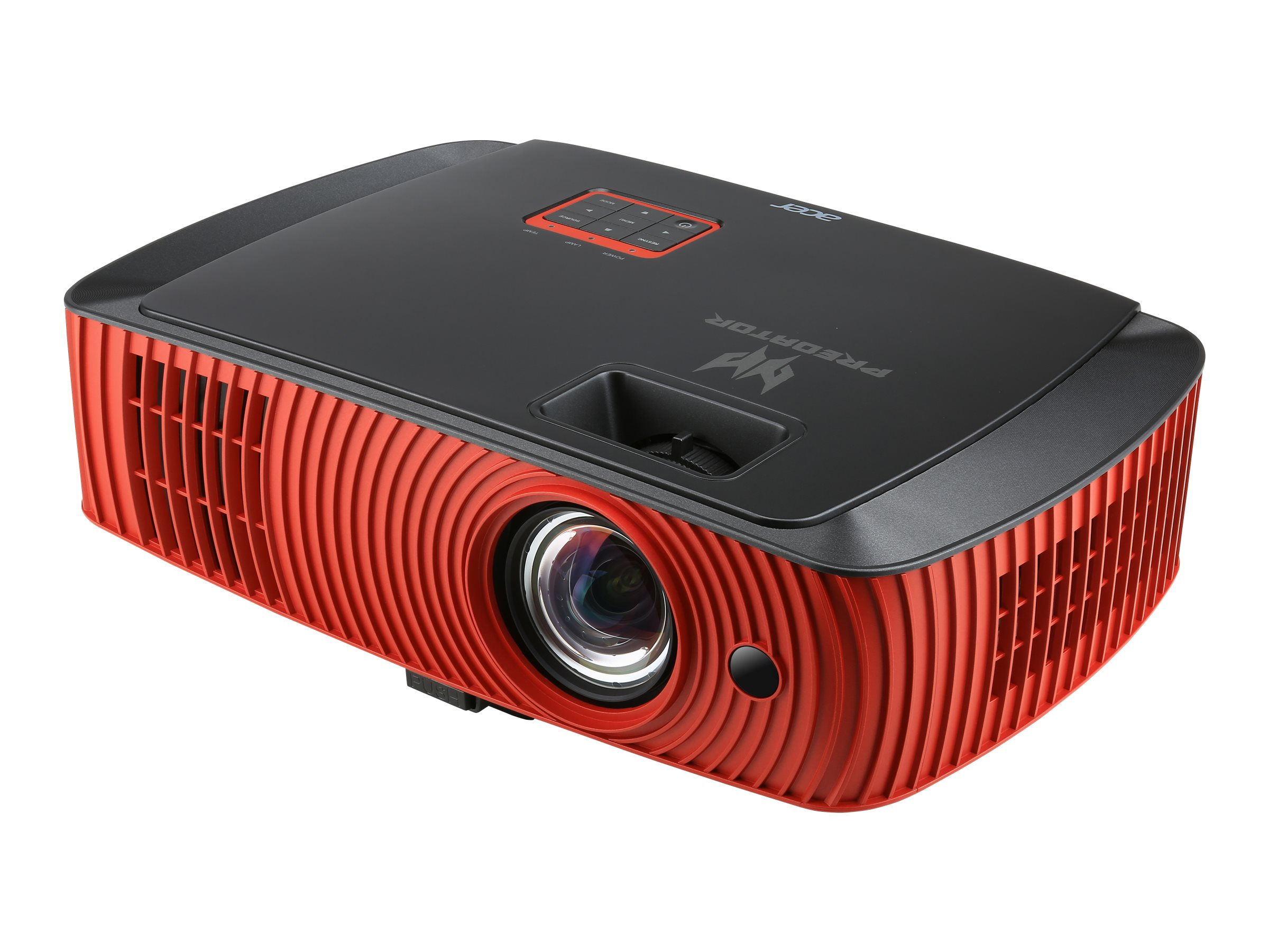Acer Predator Z650 1080p 3D DLP Projector, 2200 Lumens, Black Red, MR.JMS11.008, 31957833, Projectors