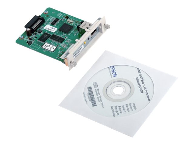 Epson 1-Port FE Epson Type B Print Server Card, C12C824352