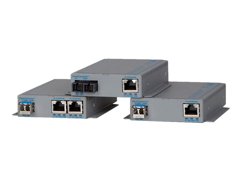 Omnitron 10 100 1000 To Fast Ethernet Fiber Omni Converter FPOE SE SC MM US AC, 9362-0-11, 23837874, Network Transceivers