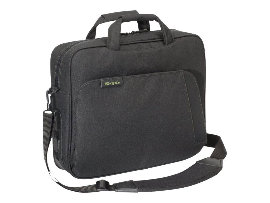 Targus Spruce EcoSmart 15.6 Topload, Black Green, TBT049US, 9568137, Carrying Cases - Notebook