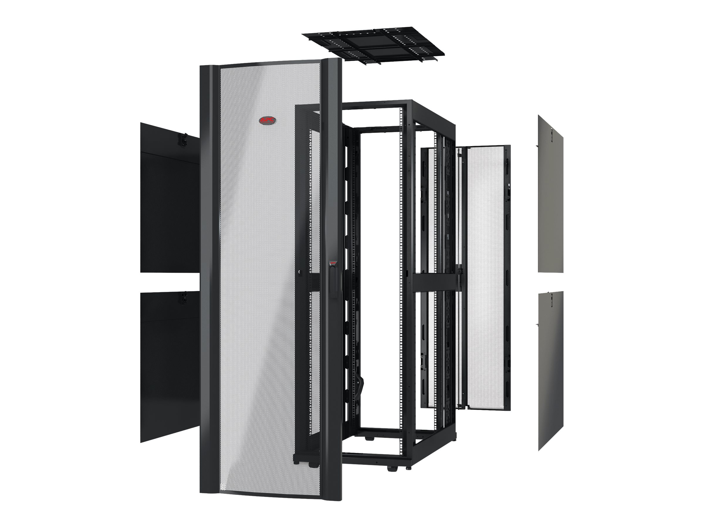 APC Netshelter SX 42U 600mm Wide x 1070mm Deep Enclosure w o Sides, w o Doors, Black, AR3100X617