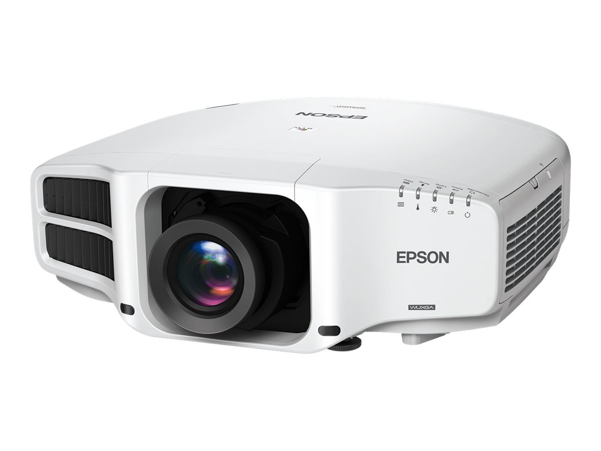 Epson Pro G7500U WUXGA 3LCD Projector with Standard Lens, 6500 Lumens, White