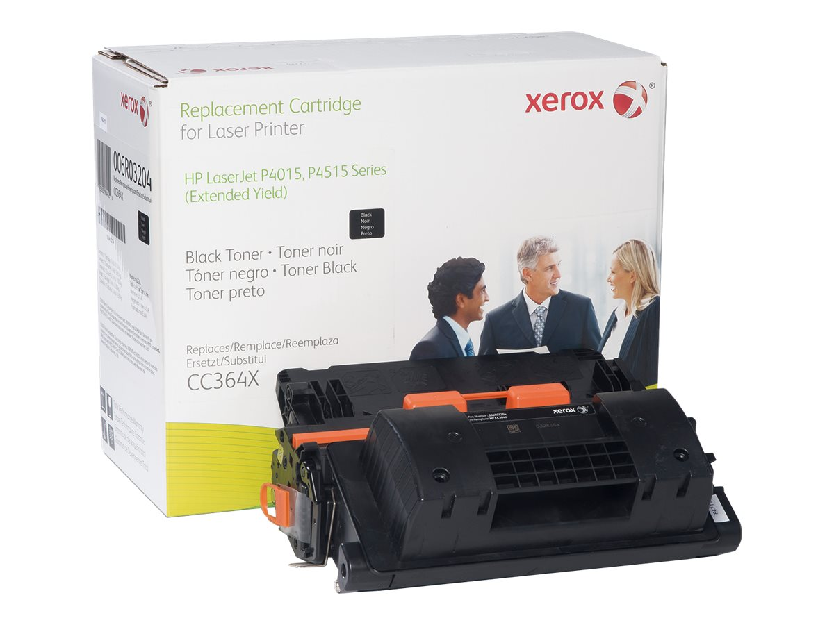 Xerox CC364X Black Extended Yield Toner Cartridge for HP LaserJet P4015 & P4515 Series, 006R03204