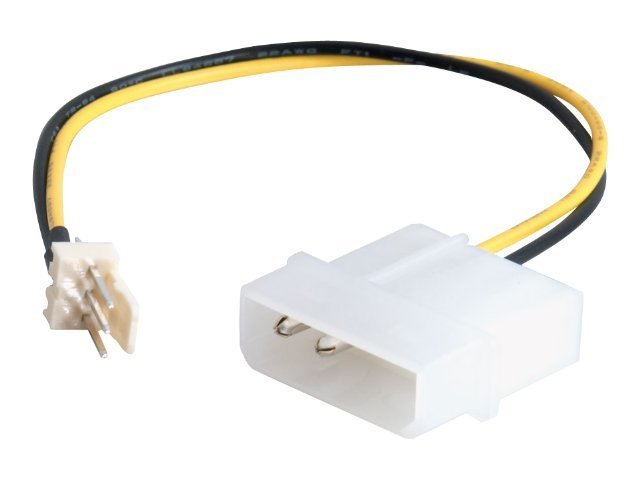 C2G 3-Pin Fan to 4-Pin Fan Power Adapter Cable, 6in, 27077, 8153221, Adapters & Port Converters