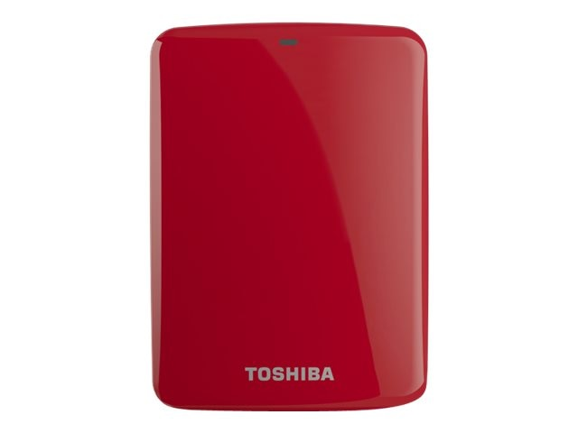 Toshiba 500GB Canvio Connect USB 3.0 Portable Hard Drive - Red, HDTC705XR3A1