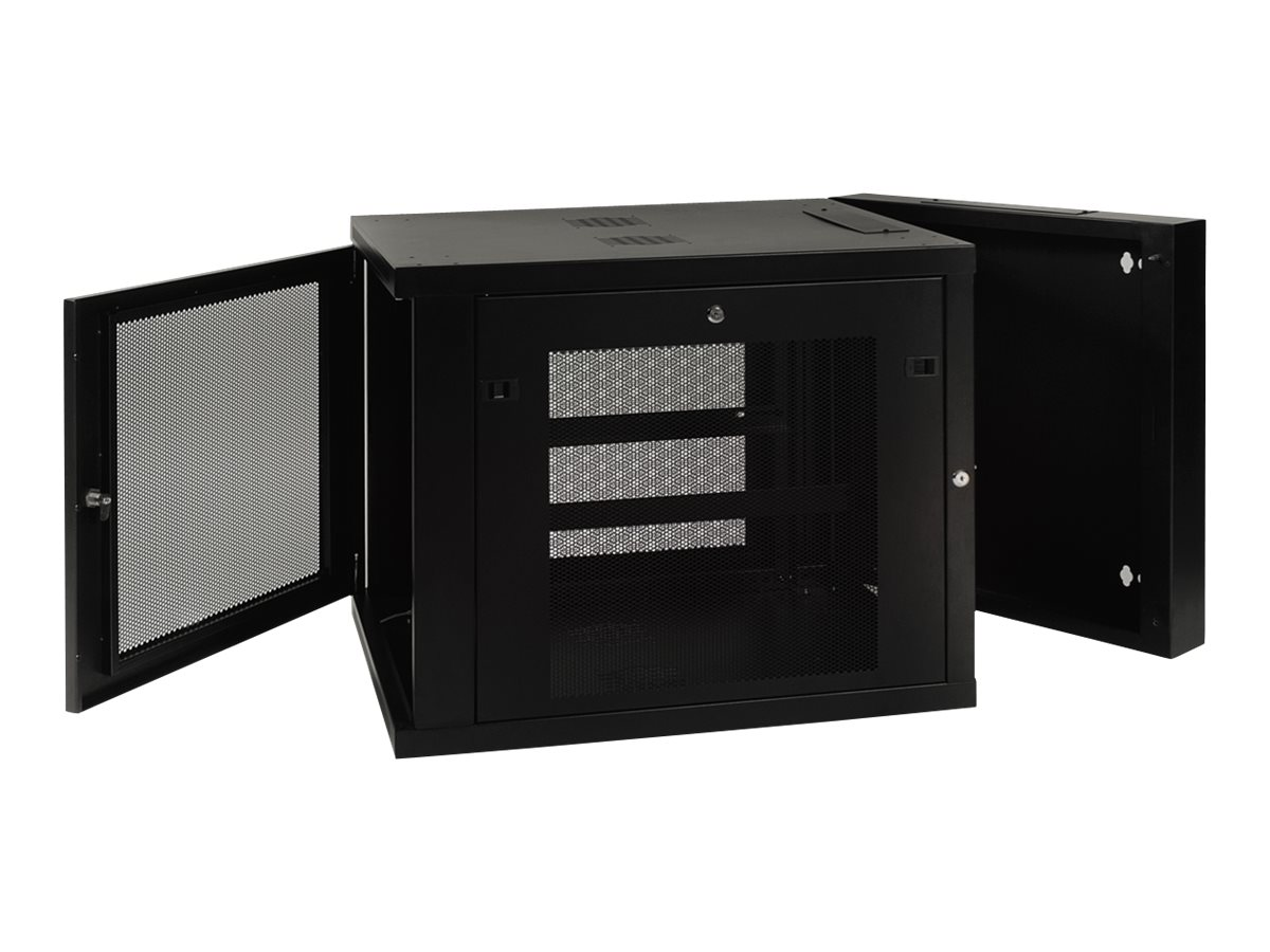 Tripp Lite SmartRack 12U Extended Depth Wall Mount Rack Enclosure Cabinet, SRW12US33