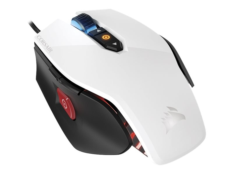 Corsair M65 Pro RGB FPS Gaming Mouse, White, CH-9300111-NA