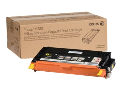 Xerox Yellow Standard Capacity Print Cartridge for Phaser 6280, 106R01390, 9409726, Toner and Imaging Components
