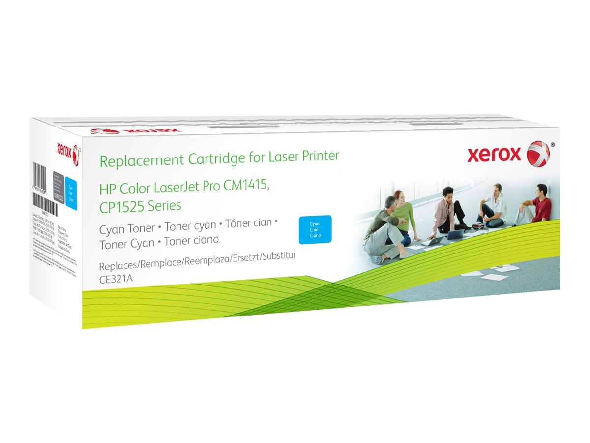 Xerox CE321A Cyan Toner Cartridge for HP Color LaserJet CP1525 & CM1415 Series, 106R02223