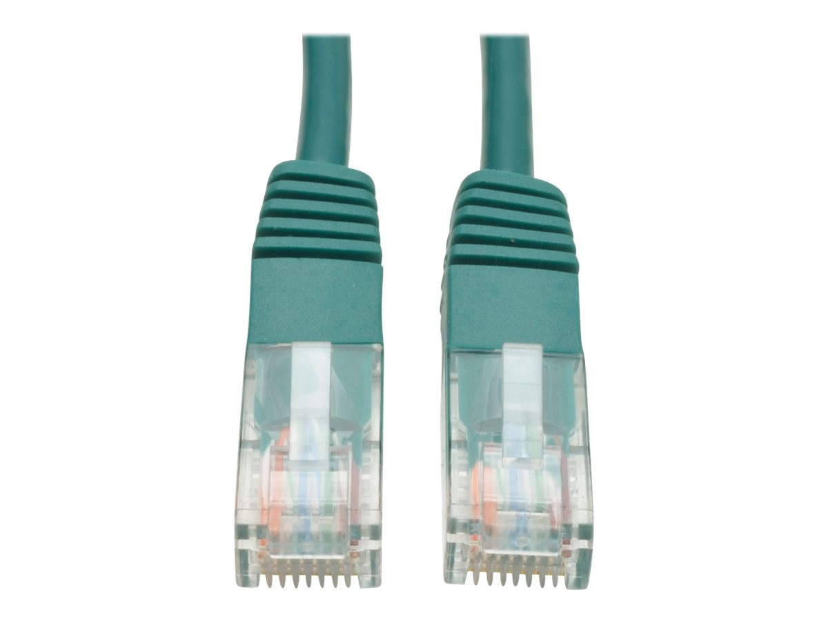 Tripp Lite Cat5e RJ-45 M M 350MHz Molded Patch Cable, Green, 7ft, N002-007-GN