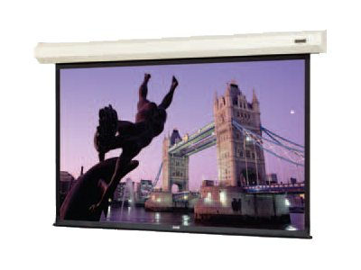 Da-Lite Cosmopolitan Electrol Projection Screen, Matte White, 16:9, 133 with Silent Motor, 79014LS, 21404725, Projector Screens