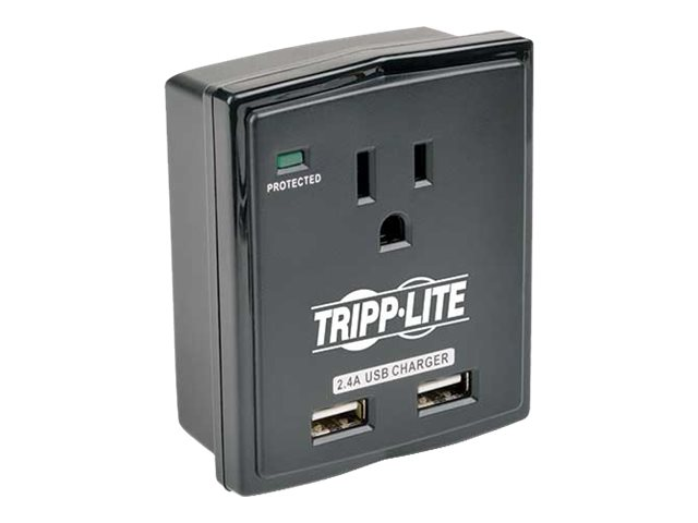 Tripp Lite Protect It! Surge Suppressor (1) Outlet, Direct Plug-In, 1080 Joules, SK10USB, 17630341, Surge Suppressors