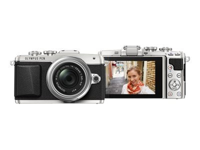 Olympus PEN E-PL7 Mirrorless Micro Four Thirds Digital Camera with 14-42mm f 3.5-5.6 II R Lens, Silver, V205071SU000