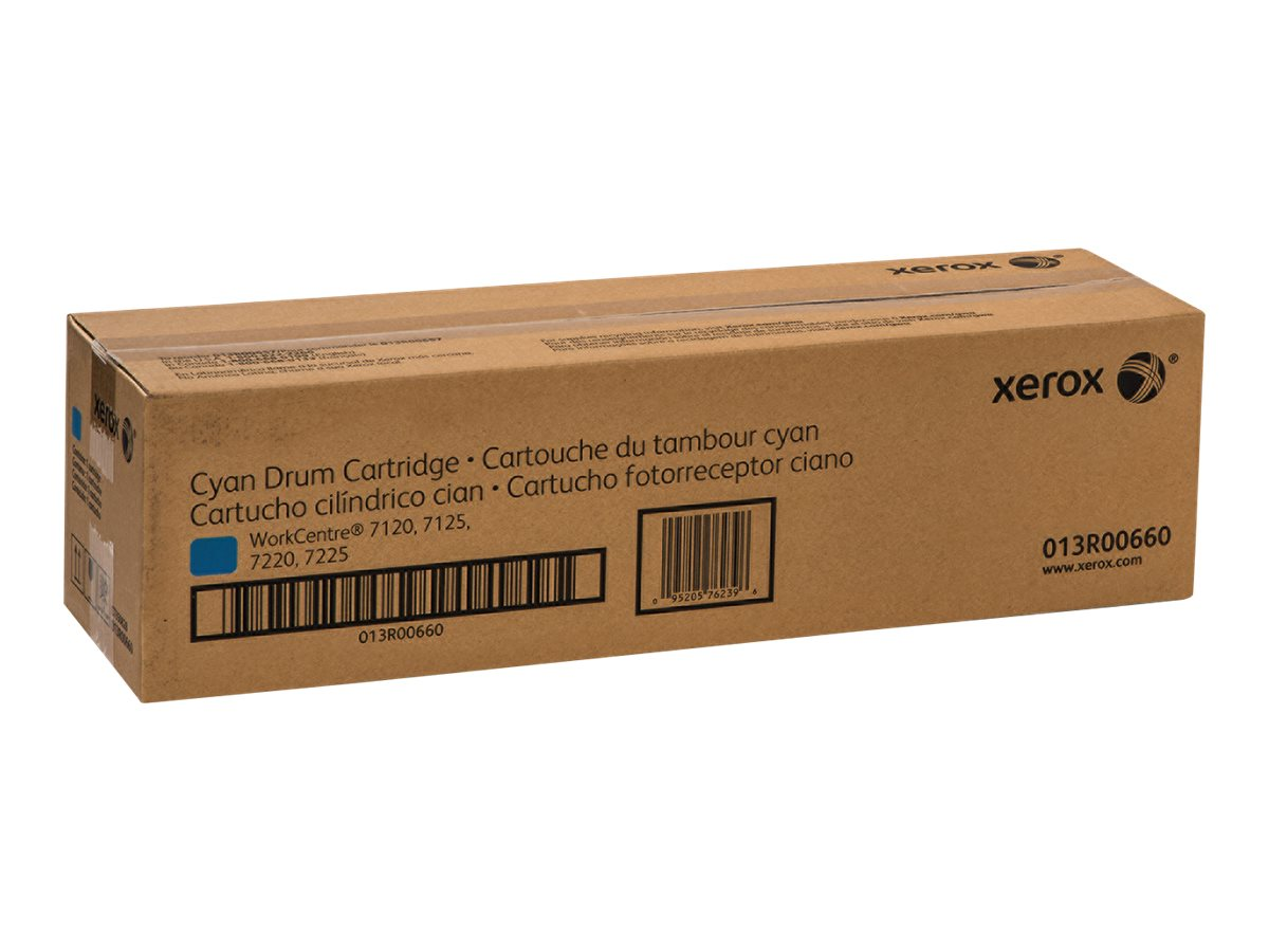 Xerox Cyan Smart Kit Drum Cartridge for WorkCentre 7120 & 7125, 013R00660, 14043811, Toner and Imaging Components