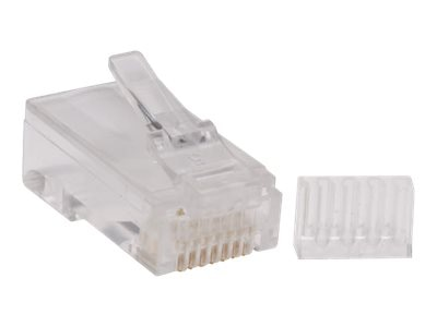 Tripp Lite Cat6 RJ-45 Connectors for Solid Stranded Cable, 100-Pack, N230-100, 14482709, Cable Accessories