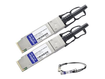 ACP-EP QSFP+ 40GBASE-CR4 Direct Attach Passive Copper Cable, Black, 0.5m, EXQSFP40GEDAC50CM-AO