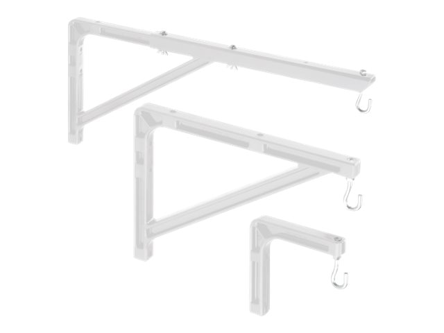 Da-Lite Model No. 6 Extension Brackets, 6 Extension, Non-adjustable, 40932, 387934, Projector Screen Accessories