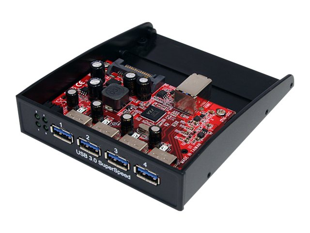 StarTech.com Front Panel 4-port USB 3.0 Hub for 3.5 5.25 Bay, 35BAYUSB3S4, 13782718, USB & Firewire Hubs