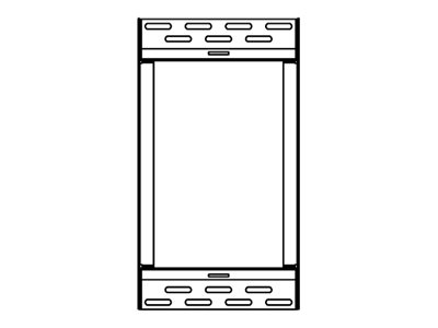 Peerless SmartMount Menu Board Wall Plate Accessory, Black, ACC-MB0800