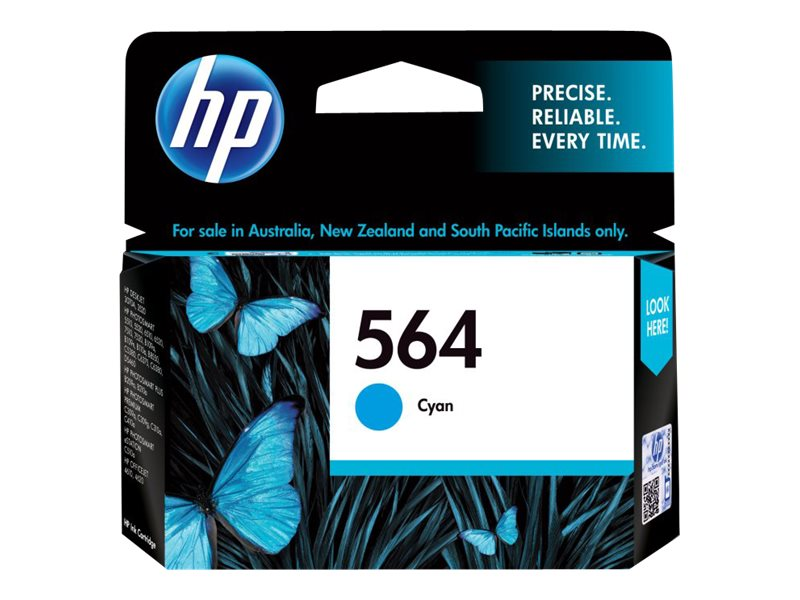 HP 564 (CB318WN) Cyan Original Ink Cartridge for HP PhotoSmart D5400 Printers