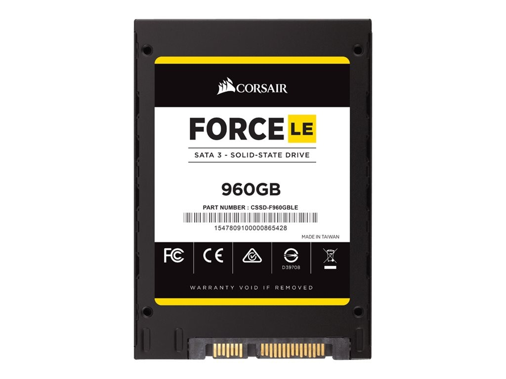 Corsair 960GB Force Series LE SATA 6Gb s Internal Solid State Drive, CSSD-F960GBLEB, 31070255, Solid State Drives - Internal