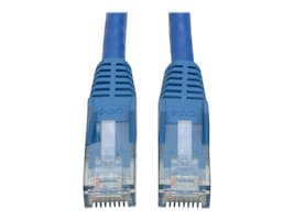 Tripp Lite Cat6 UTP Gigabit Snagless Molded Patch Cable, Blue, 15ft, N201-015-BL, 14506740, Cables