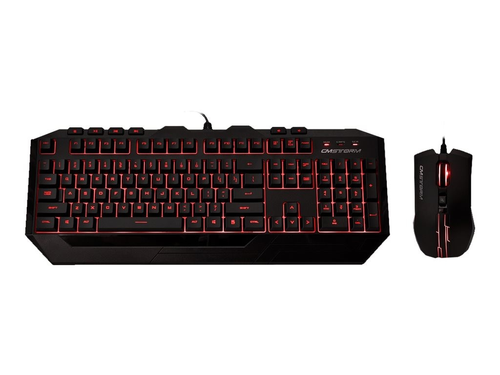 Cooler Master Storm Devastator Red LED Gaming Keyboard Mouse Combo, SGB-3011-KKMF1-US, 17600619, Keyboard/Mouse Combinations