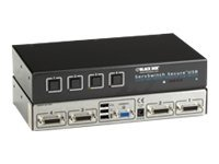 Black Box ServSwitch Secure KVM Switch w  USB, EAL2+ EAL4+ Certified TEMPEST Level I Qualified, VGA, 2-Port