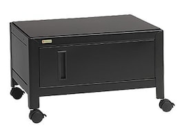 Bretford Manufacturing Printer Stand with Cabinet, Low Profile Door, Black, C15-BK, 14036733, Computer Carts