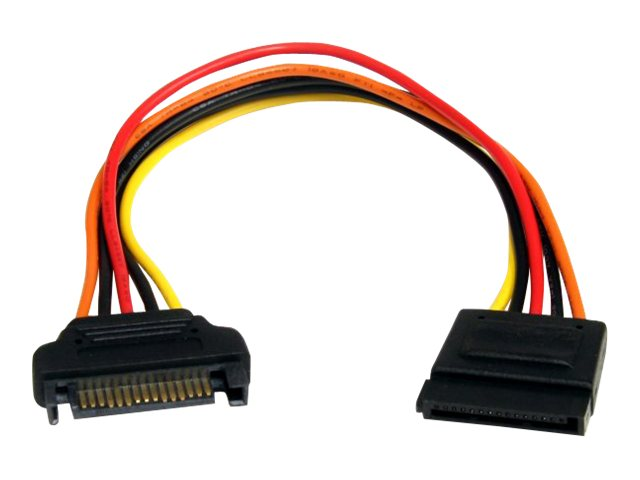 StarTech.com 15-pin SATA Power M F Extension Cable, 8, SATAPOWEXT8, 13699359, Adapters & Port Converters