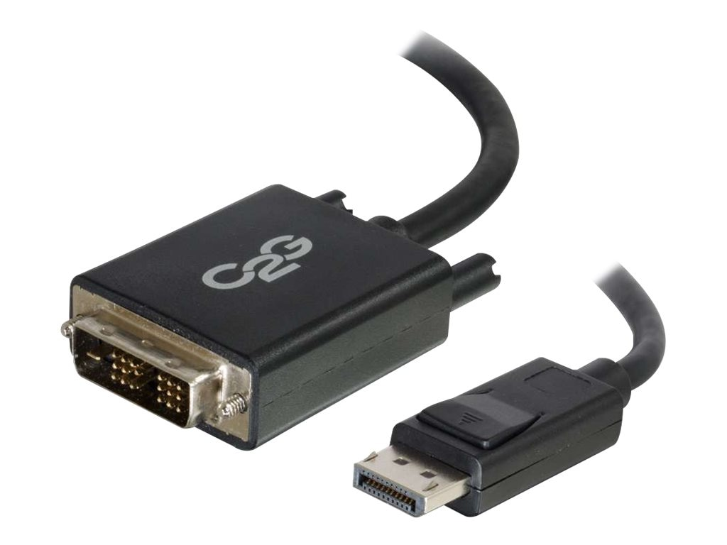 C2G DisplayPort to Single Link DVI-D M M Adapter Cable, Black, 3ft